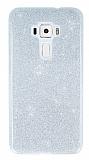 Asus ZenFone 3 ZE552KL Simli Silver Silikon Kılıf