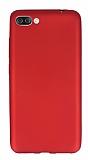 Asus Zenfone 4 Max ZC554KL Mat Kırmızı Silikon Kılıf