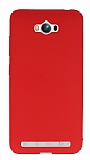 Asus ZenFone Max Tam Kenar Koruma Kırmızı Rubber Kılıf