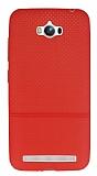 Asus ZenFone Max Ultra �nce Noktal� K�rm�z� Silikon K�l�f