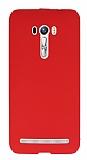 Asus Zenfone Selfie Tam Kenar Koruma Kırmızı Rubber Kılıf