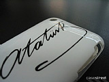 Atat�rk �mzal� iPhone 3G/GS Beyaz K�l�f