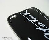 Atat�rk �mzal� iPhone 3G/GS Siyah K�l�f