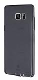 Baseus Air Case Samsung Galaxy Note FE Şeffaf Siyah Silikon Kılıf