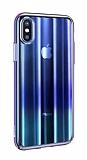 Baseus Aurora iPhone XS Max Mavi Rubber Kılıf