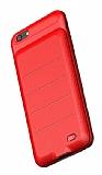 Baseus Backpack iPhone 6 Plus / 6S Plus 3600 mAh Bataryalı Kırmızı Kılıf