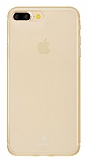 Baseus Frosting iPhone 7 Plus / 8 Plus Ultra İnce Gold Rubber Kılıf