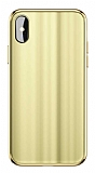 Baseus Glass Sparkling iPhone X / XS Gold Rubber Kılıf