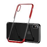 Baseus Glitter iPhone X / XS Kırmızı Kenarlı Rubber Kılıf