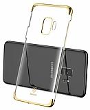 Baseus Glitter Samsung Galaxy S9 Gold Kenarlı Rubber Kılıf