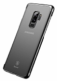 Baseus Glitter Samsung Galaxy S9 Plus Siyah Kenarlı Rubber Kılıf