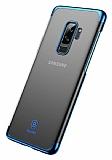 Baseus Glitter Samsung Galaxy S9 Plus Lacivert Kenarlı Rubber Kılıf