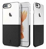Baseus Half to Half iPhone 7 Plus Siyah Silikon Kılıf