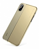 Baseus Half to Half iPhone X Gold Silikon Kılıf