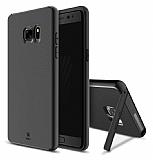 Baseus Hidden Bracket Samsung Galaxy Note FE Siyah Standlı Rubber Kılıf
