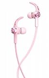 Baseus Licolor Manyetik Pembe Bluetooth Kulakiçi Kulaklık