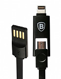 Baseus Lightning & Micro USB Siyah Data Kablosu
