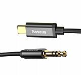 Baseus M01 Type-C Siyah Aux Kablo 1.20m