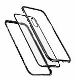Baseus Magnetite Hardware iPhone XS Max 360 Derece Koruma Cam Siyah Kılıf