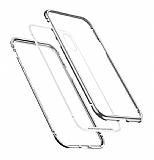 Baseus Magnetite Hardware iPhone XS Max 360 Derece Koruma Cam Silver Kılıf