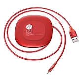 Baseus Makaralı Lightning Kırmızı Data Kablosu 1.20m
