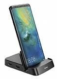 Baseus Mate Type-C SD Kart ve 3 USB Girişli Masaüstü Dock