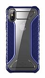 Baseus Michelin iPhone X / XS Ultra Koruma Lacivert Kılıf