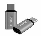 Baseus Micro USB to USB Type-C Dark Silver D�n��t�r�c� Adapt�r