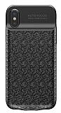 Baseus Plaid iPhone X / XS 3500 mAh Bataryalı Siyah Kılıf