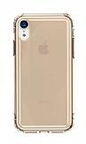 Baseus Safety Airbags iPhone XR Şeffaf Gold Silikon Kılıf