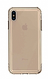 Baseus Safety Airbags iPhone XS Max Şeffaf Gold Silikon Kılıf