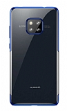 Baseus Shining Huawei Mate 20 Pro Mavi Kenarlı Silikon Kılıf