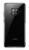 Baseus Shining Huawei Mate 20 Pro Siyah Kenarlı Silikon Kılıf