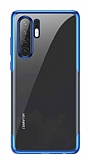 Baseus Shining Huawei P30 Pro Mavi Kenarlı Silikon Kılıf