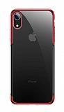 Baseus Shining iPhone XR Kırmızı Kenarlı Silikon Kılıf