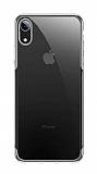 Baseus Shining iPhone XR Silver Kenarlı Silikon Kılıf