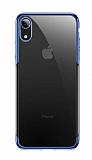 Baseus Shining iPhone XR Lacivert Kenarlı Silikon Kılıf