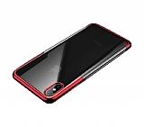 Baseus Shining iPhone XS Max Kırmızı Kenarlı Silikon Kılıf