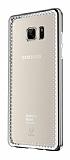 Baseus Shining Samsung Galaxy Note FE Dark Silver Kenarlı Şeffaf Silikon Kılıf