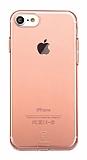 Baseus Simple Series iPhone 7 / 8 Şeffaf Rose Gold Silikon Kılıf