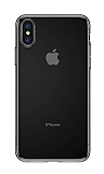 Baseus Simplicity Basic iPhone XS Max Şeffaf Siyah Silikon Kılıf