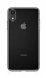 Baseus Simplicity Basi iPhone XR Şeffaf Siyah Silikon Kılıf