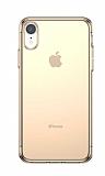 Baseus Simplicity Basic iPhone XR Şeffaf Gold Silikon Kılıf