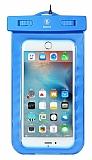 Baseus Universal Su Ge�irmez Mavi Cep Telefonu K�l�f�
