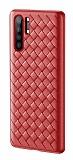 Baseus Weaving Huawei P30 Kırmızı Silikon Kılıf