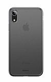 Baseus Wing iPhone XR Ultra İnce Şeffaf Siyah Rubber Kılıf