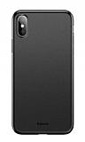 Baseus Wing iPhone XS Max Ultra İnce Siyah Rubber Kılıf
