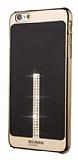 Beckberg iPhone 6 / 6S Taşlı Siyah Rubber Kılıf