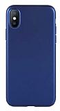 Benks Comfort iPhone X / XS Lacivert Silikon Kılıf