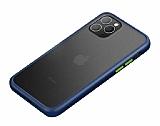 Benks iPhone 11 Pro Magic Smooth Drop Lacivert Silikon Kılıf